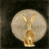 ext_6483: drawing of a golden hare in front of a silver moon (DM: MAGIC HAT TRICK!)