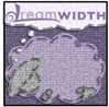 jerico_cacaw: A fabric-like texture with stitches dreamsheep in purple (stitches)