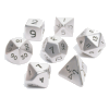 rollingdice: A set of various sided dice in steel. (dice)