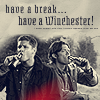 scribblerfic: Sam and Dean having a beer (spn have a break)