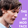 kenna: (Mod Face// Silly Eleven)
