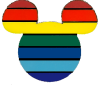 ext_268898: Pin by Disney, Icon by me (Diversity Mickey, Rainbow)