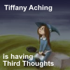 "sashajwolf: Tiffany Aching looking up at the sky, with the words ""Tiffany Aching is thinking Third Thoughts"" (third thoughts)"