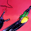 runespoor: steph as robin, somersaulting joyfully, while cass uses a grapplehook to try and catch up (batgirl&robin | flying)
