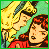 gloss: sea princess leaning into toward sexy lady (Namora likes the ladies)