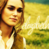 "watersword: Keira Knightley as Elizabeth Swann from the epilogue of Pirates of the Caribbean: At World's End, & the word ""elizabeth"" (Pirates of the Caribbean: epilogue)"