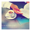 watersword: Image of someone holding a book open next to a cup of tea. (Stock: quiet)