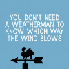 """watersword: """"You don't need a weatherman to know which way the wind blows."""" - Bob Dylan, Blowin' in the Wind (Stock: future)"""