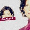 """watersword: Tori Higginson as Elizabeth Weir and the word """"elizabeth"""" (Elizabeth: commander)"""