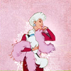 colorcoded: Madame Adelaide Bonfamille from the Aristocats with her boa (evil queen)