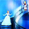 colorcoded: Blend of Cinderella on the staircase (cinderella)