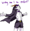 "daeseage: eridan (from Homestuck) with a fly-away shirt shouting ""Why Am I So Perfect?"" (perfect eridan)"