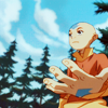 colorcoded: Aang underneath a blue sky (calm)