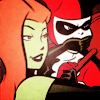 colorcoded: Poison Ivy hushing Harley Quinn (comics)