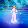 colorcoded: Odette from The Swan Princess standing in the lake (odette)
