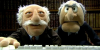 zotmeister: the Muppet curmudgeons using a computer (s&w)
