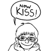 "chairman_wow: drawing of me chin-handsing and saying ""Now KISS!"" (Now Kiss!)"