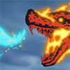 fierybluebird: (Akainu, red magma vs bluebird, fighting things out of your world)