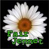 "fairjennet: A picture of a daisy, text reads ""fairjennet"" (fairjennet flower)"