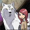 crescentdreams: Image of Annie and Reynardine from Gunnerkrigg Court, internet comic. (protection)