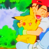 twisted_satyr: photo of ash hugging pikachu happily (pokemon, happy, friends, aww)