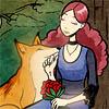 crescentdreams: Image of Surma and Reynardine from Gunnerkrigg Court, internet comic. (love, gunnerkrigg)
