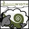 dewey: Dreamwidth sheep with green NZ koru frond (DW koru sheep made by temve)