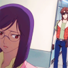 mikogalatea: Tieria from Gundam 00, glancing back sadly as Lockon comes through the door behind him. ([00] Lockon/Tieria)