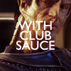 "sohotrightnow: Gul Dukat leering, labeled ""with club sauce"" ([st] look at banner kira!)"