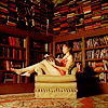 catherine: Chuck in a room surrounded by books (Pushing Daisies // Chuck and Books)