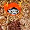 sequineddreams: Image of a mosaic of Theodora with Vriska's head pasted on, yay. (byzantium, homestuck, theodora, vriska)