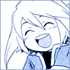arabesque: Tales of Symphonia: young Genis grinning happily (Hooray!)