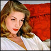 skygiants: Lauren Bacall on a red couch (lauren bacall says o rly)