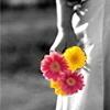 rawnee: (black and white, flowers)