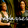 shanaqui: Zoe and Wash from Firefly. Text: badasses. ((ZoeWash) Badass)