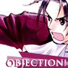 shanaqui: Edgeworth from Phoenix Wright. Text: objection! ((Edgeworth) Objection!)