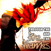 shanaqui: Axel from Kingdom Hearts II. Text: through the fire and flames. ((Axel) Burn baby burn)