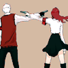 shanaqui: Akihiko and Mitsuru from Persona 3, holding guns to each others' heads. ((AkihikoMitsuru) Fatal)