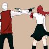 shanaqui: Akihiko and Mitsuru from Persona 3, holding guns to each others' heads. ((AkihikoMitsuru) Fatal)