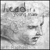 slashfairy: Head of a young man, by Raphael (Default)