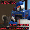 shadowchaser: (Soundwave sewing)