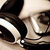 kabal42: A black/white shot of on-ear headphones (Music - Headphones)