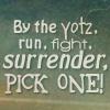 last_raindrop: run fight surrender (run fight surrender)
