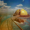 dreaming_of_myst: Gold (open) firemarble dome from RIven (Riven dome)