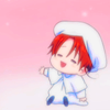 hokuton_punch: A screenshot of baby Italy from Hetalia. (hetalia baby italy cute roadie_icons)