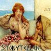 telesilla: woman telling a story--by Alma-Tedema (storyteller)