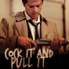 subiteveneinorem: castiel with a gun (spn: castiel w/ a gun)