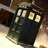 owl: The TARDIS in snow (TARDIS)