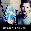 iamshadow: Picture of Owen holding up the phone book in Ghost Machine with the caption I do read, you know (Read)