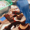 mikogalatea: Maria from Star Ocean 3, working at a control panel in the Diplo. ([SO3] Maria; busy)